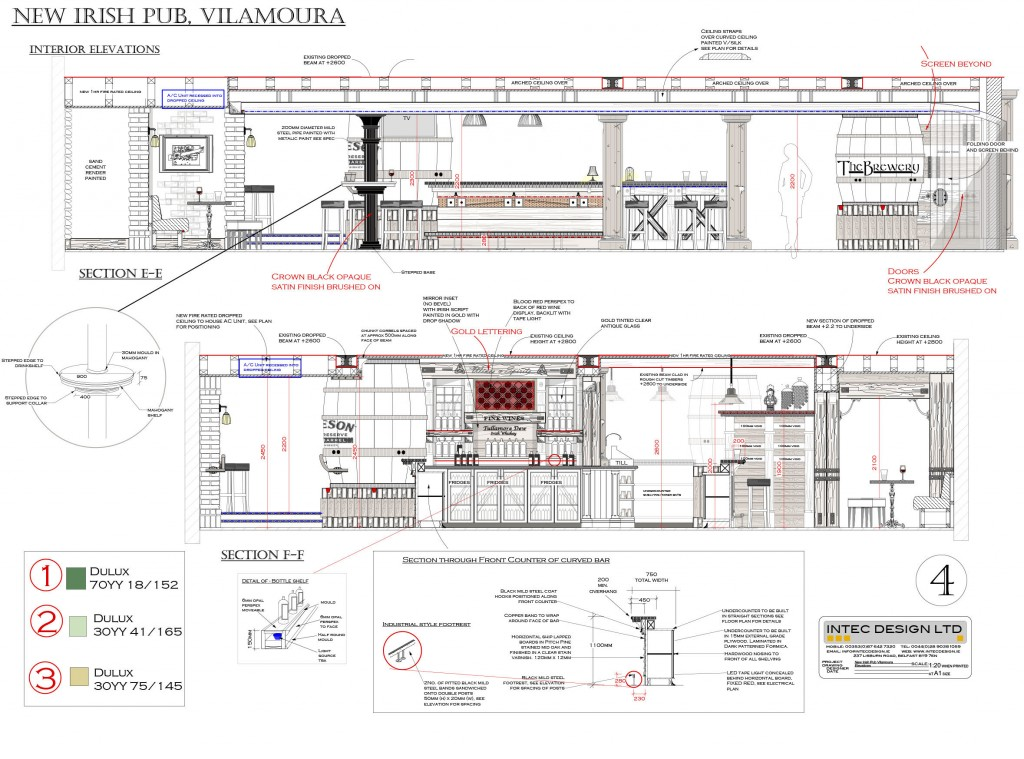 Interior bar design restaurant refurbishment process