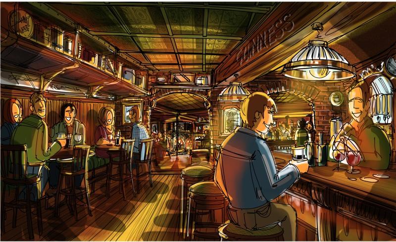 Dublin trad bar concepts