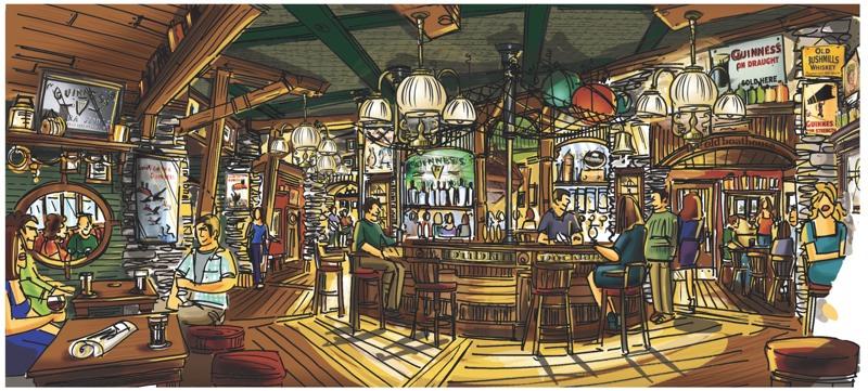 Irish bar design concepts